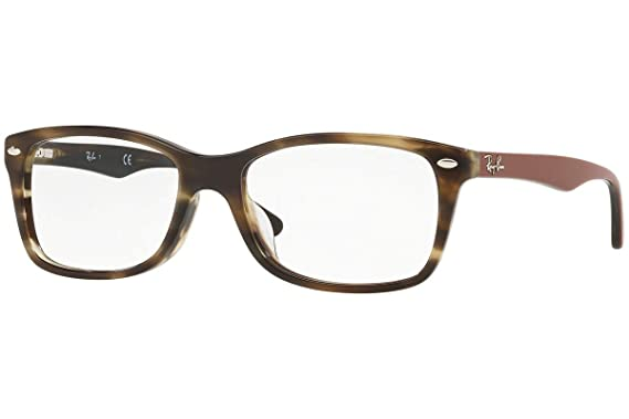 36e278a931 Amazon.com  Ray-Ban Women s RX5228F Eyeglasses Havana Green 53mm ...