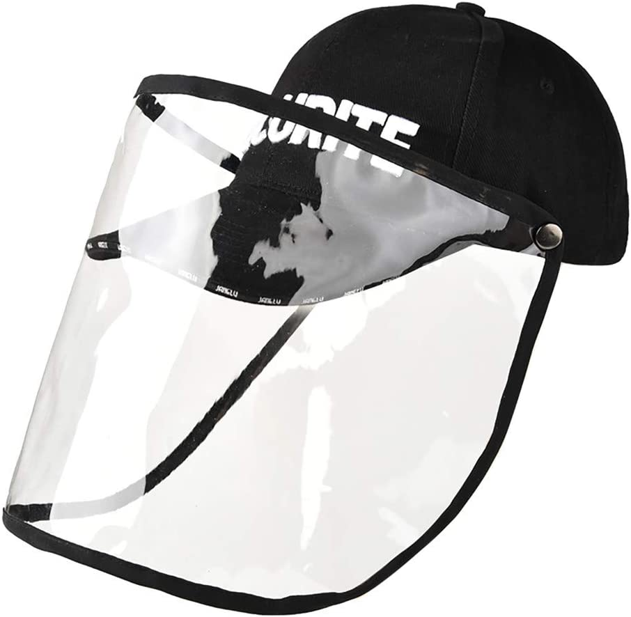 A Clear Shield Clear Shield Anti-Spitting Hats Helmet Shy All-Purpose Face Shield Dustproof Breathable Face Cover Airsoft Paintball Snowboard Cycling Mask