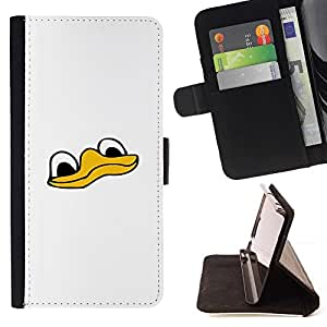 Momo Phone Case / Flip Funda de Cuero Case Cover - Cute Funny Duck Face - Samsung Galaxy Note 3 III