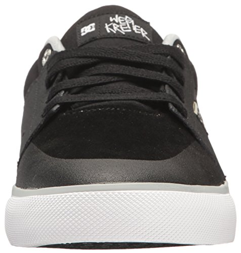 Black US Men's Black Skate Wes Grey Kremer White Grey DC Shoe D White M RxPfqwU