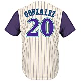 Luis Gonzalez Arizona Diamondbacks Pinstripe Cool Base Cooperstown Jersey (Medium)