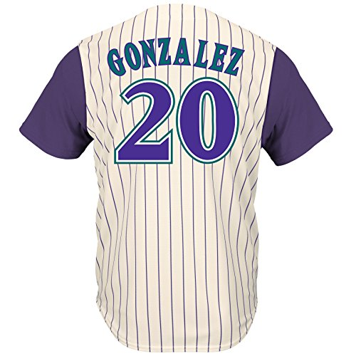 Luis Gonzalez Arizona Diamondbacks Pinstripe Cool Base Cooperstown Jersey – Sports Center Store