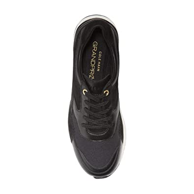 b2894f4811 Cole Haan Women's Grandpro Downtown Sneaker 6.5 Black  Leather-Suede-Nylon-Optic White