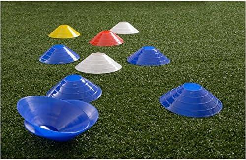 gelb RHINOS sports Markierungsh/ütchen wei/ß geeignet f/ür Koordination und Agilit/ät Halter rot Farben blau 20er und 40er Set inkl