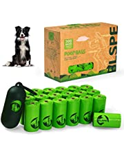 BLSPE Dog Poop Bags Pet Dog Supplies 300 Bag 20 Rolls With Dispenser and Waste Dog Poop Bag Leash Clip for Doggie Cats Puppy Biodegradable Extra Thick Large Leak Proof Environment Friendly Poo Bags