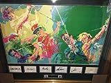 Leroy Neiman Masters Of Golf Litho Signed Hogan Snead Palmer Nickaus Player - JSA Certified - Autographed Golf Art
