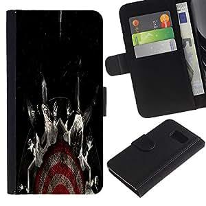 All Phone Most Case / Oferta Especial Cáscara Funda de cuero Monedero Cubierta de proteccion Caso / Wallet Case for Sony Xperia Z3 Compact // Target Fear Black Dark