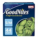 #1: GoodNites Bedtime Bedwetting Underwear for Boys, S-M, 44 Ct. (Packaging May Vary)