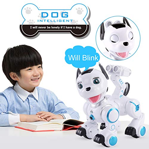 fisca Remote Control Robotic Dog RC Interactive Intelligent Walking Dancing Programmable Robot Puppy Toys Electronic Pets with Light and Sound for Kids Boys Girls Age 6, 7, 8, 9, 10 and Up Year Old by fisca (Image #4)