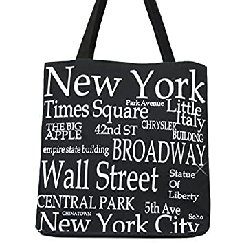 Amazon.com: New York Black and White Canvas 100% Cotton New York ...