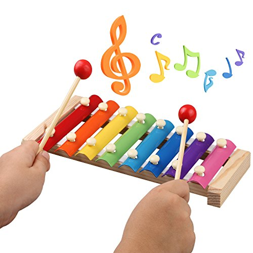 Kids Musical Instruments - Childom Musical Instruments Wood Xylophone for Kids Children, Child Wooden Music Shakers Percussion Instruments Tambourine Birthday Gifts Present with Carrying Bag by Childom (Image #5)