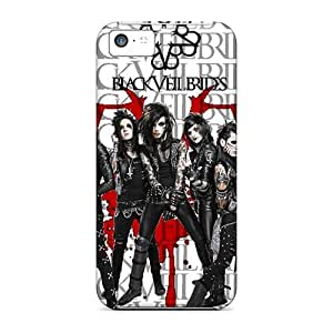 MMZ DIY PHONE CASEShockproof Hard Phone Case For iphone 6 plus 5.5 inch (ZtT576DCng) Provide Private Custom Lifelike Black Veil Brides Image