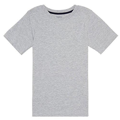 French Toast Big Boys' Basic Short Sleeve Crew Neck Tee, School Heather Grey, (X-large Grey T-shirt)
