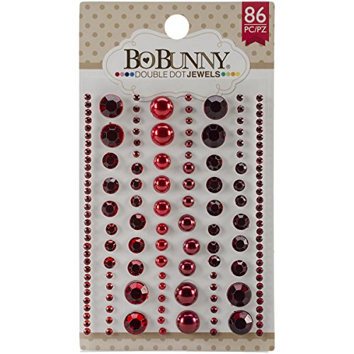 Bo Bunny Double Dot Jewels (86 Pack), Ruby Red Bo Bunny Jewels