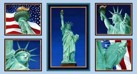 (Statue of Liberty Quilt Block Fabric Panel (Great for Quilting, Sewing, Craft Projects, a Quilt, Throw Pillows & More) 22