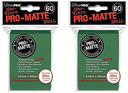 Pro Matte 60 Pack Ultra Pro Card Sleeves Deck Protectors Small Size Yu Gi Oh