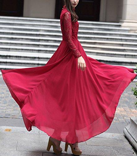 Futurino - Vestido - Noche - para mujer rojo vino