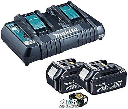 MAKITA BL1850 pack de 2 batterie originale 5Ah avec temoin de charge