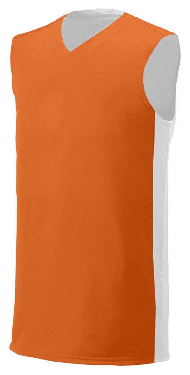 A4 Boy's Reversible Moisture Management Muscle Orange/White