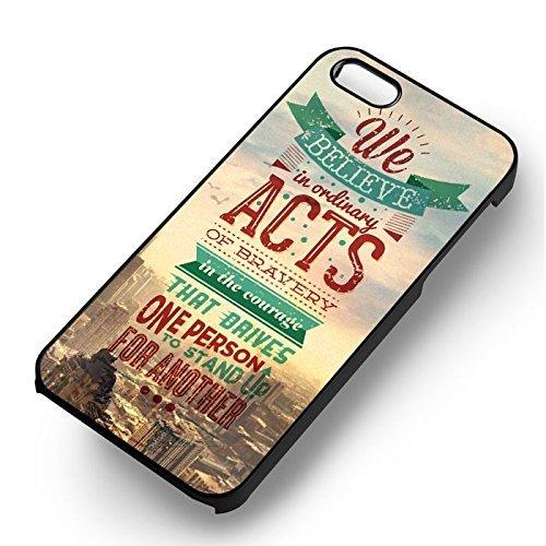 Art Quote Movie pour Coque Iphone 7 Case (Noir Boîtier en plastique dur) Z6T4VL