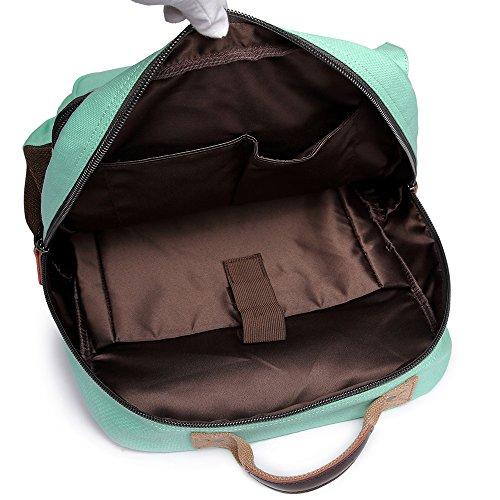 0ac7ec986737 School Backpack Vintage Canvas Laptop Backpacks Men Women Rucksack  Bookbags, Mint Green
