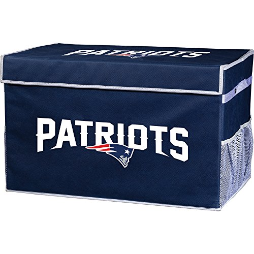 Franklin Sports NFL New England Patriots Collapsible Storage Footlocker Bin - Small