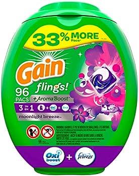 96-Count Gain Flings! Liquid Laundry Detergent Pacs
