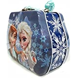 Disney Frozen Princess Elsa and Anna with Olaf Beaded Handle Tin Purse Toy