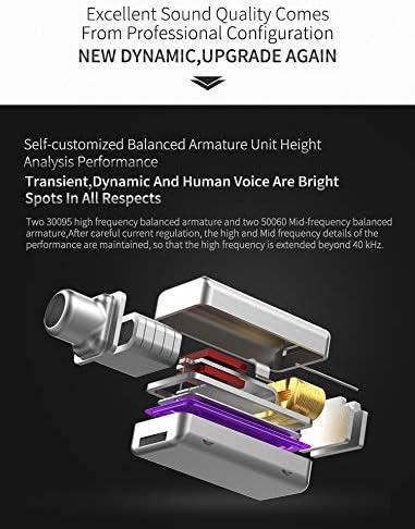 KZ ZS10 Pro Auriculares híbridos 4BA 1DD 4 equilibrados y 1 ...