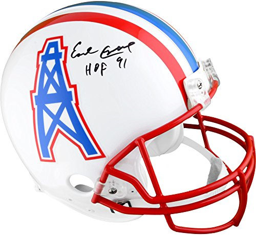 Earl Campbell Houston Oilers Autographed Riddell Pro-Line Authentic Helmet with HOF 91 Inscription - Fanatics Authentic Certified ()