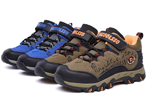 Image of DADAWEN Kids Waterproof Outdoor Hiking Athletic Sneakers Running Shoes