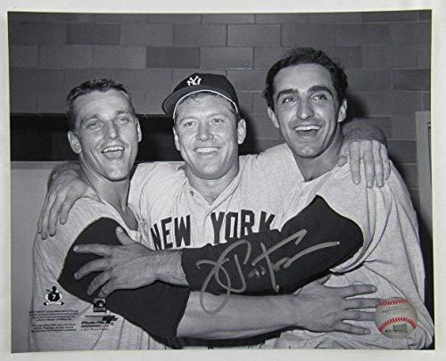 Joe Pepitone Signed Auto Autograph 8x10 Photo w/Mickey Mantle Roger Maris - Autographed MLB Photos - Mickey Mantle Autographed Photo
