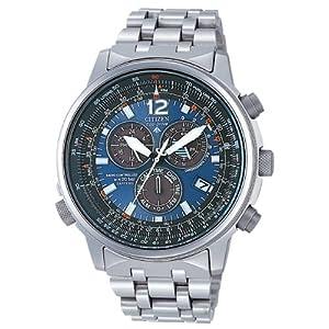Citizen AS4050-51L - Reloj cronógrafo de Cuarzo para Hombre, Correa de Titanio Multicolor 1