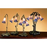 """Meyda - 13394 - 16""""H Pink/Blue Pond Lily Accent Lamp"""