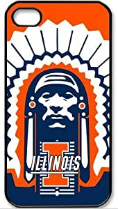 Ncaa Illinois Fighting Illini For Ipod Touch 5 Case Cover and 4s Plastic Cases for Sports Fans,illinois Fighting Illini Logo For Ipod Touch 5 Case Cover Hard Cases Cover Skin