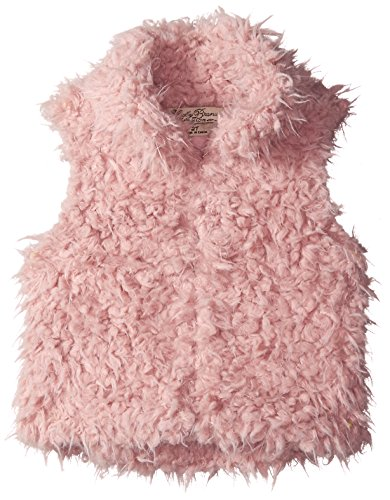 Lucky Brand Little Girls' Toddler Faux Shearling Vest, Cameo Pink, 2T by Lucky Brand