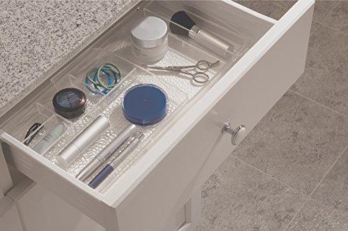 mDesign Expandable Makeup Organizer for Bathroom Drawers, Vanities, Countertops: Organize Makeup Brushes,