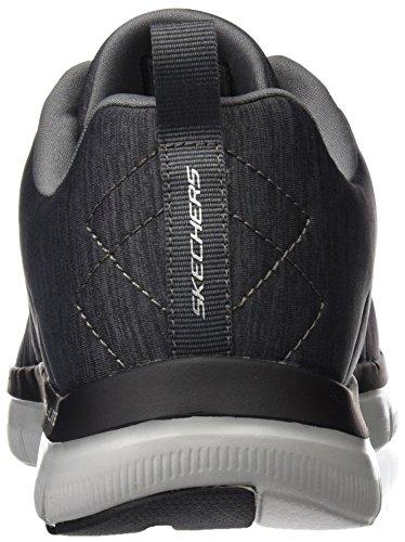 Skechers Mens Flex Advantage 2.0 Chillston Trainer, Carboncino, Us 9 M
