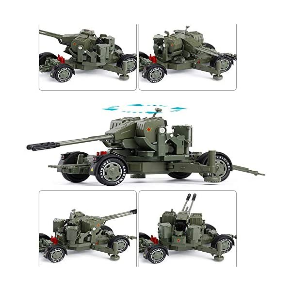 LXWM 1/35 Model Military Toys Anti-Aircraft Weapon System Aircraft Anti-Aircraft Gun Diecast Metal Toy Model for… 5