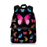 Jeremysport Butterfly Backpack Rucksack School Bags (Pink)