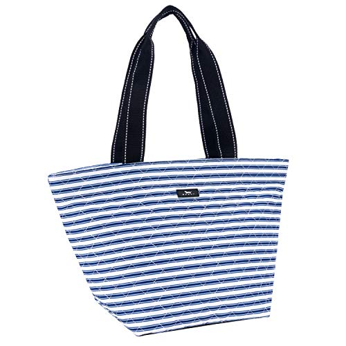 SCOUT Daytripper Everyday Tote Bag, Shoulder Bag, Water Resistant, Wipes Clean, Zips Closed, Stripe Right by SCOUT