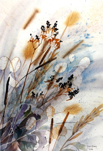 gone-to-seed-photolithographic-print-of-watercolor-nature-study-showing-dried-weeds-and-plants-in-th