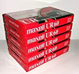 Maxell UR 60 Position IEC Type I Normal Audio Cassette - 5 Pack