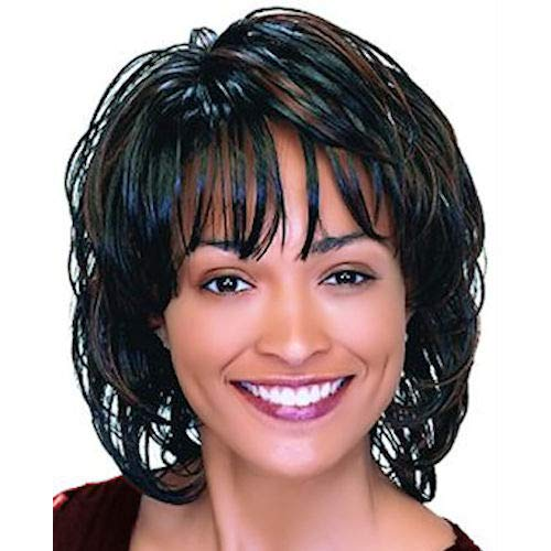 DENVER (Motown Tress) - Synthetic Mono Front Full Wig in OFF BLACK
