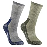 Men's Wool Hiking Walking Socks - YUEDGE Merino Wool Cushioned Crew Socks For Hiking Backpacking Trekking Climbing Winter