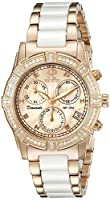 Swiss Precimax Women's SP13304 Desire Elite Ceramic Diamond Analog Display Swiss Quartz White Watch