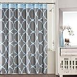 Studio 3B Jay Fret Shower Curtain in Grey/Blue