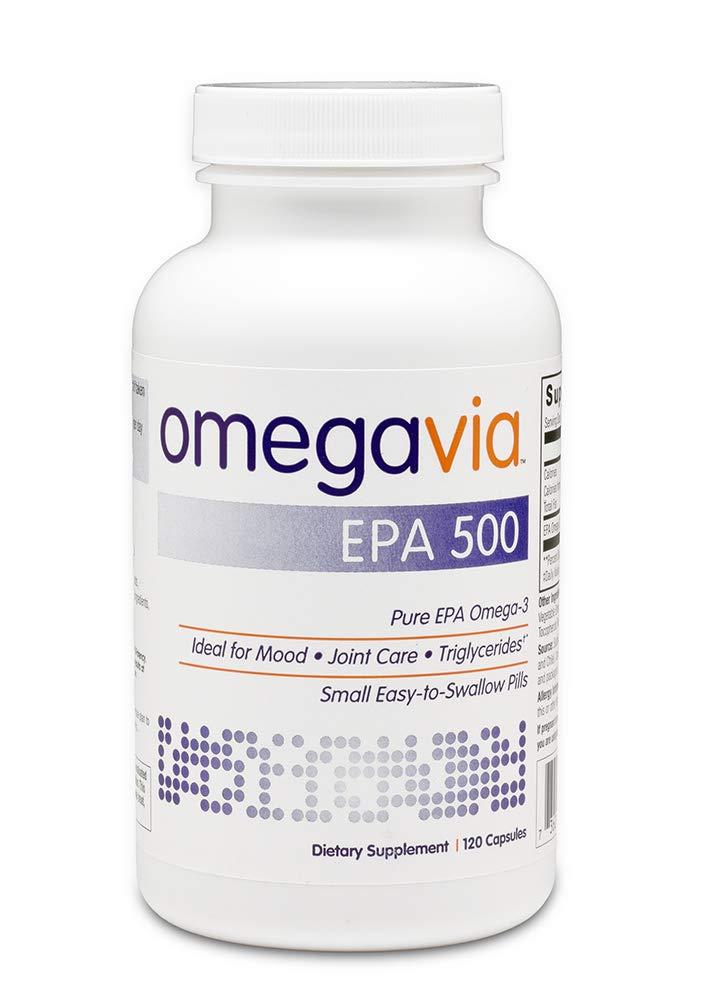 OmegaVia EPA 500 Omega-3 Fish Oil. High-Purity EPA Formula (Triglyceride Form). IFOS 5-Star Certified. 500 mg EPA per Pill - 120 Capsules. by OmegaVia