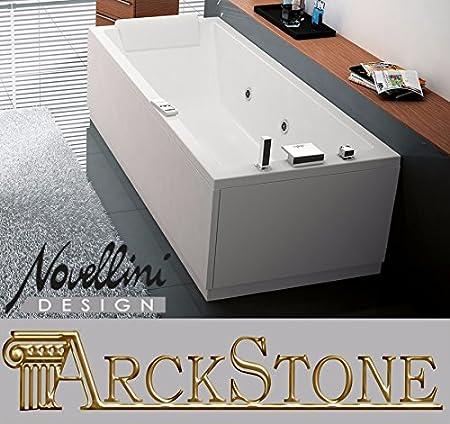 Hydro Massage Bathroom Bath Tub NOVELLINI Calos Rectangular With  Disinfection 150 X 70 160 X 70