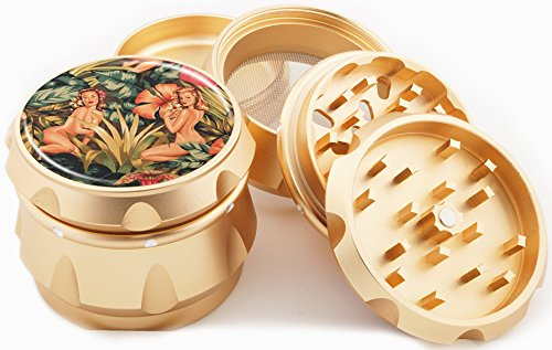 Jungle Girl Gold Herb Grinder 2.25